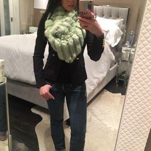 **NWT** green multiway infinity foe fur scarf